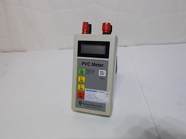 Phase Angle Meter - Sydney Electricity PVC