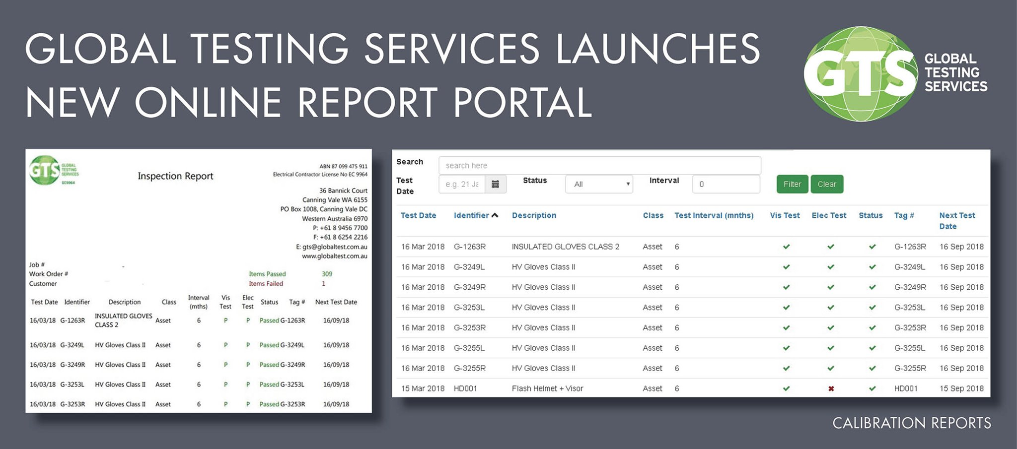 GTS launches new online report portal