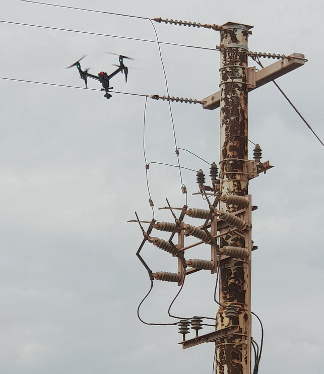 Global Testing Services Power line Inspection with Drone Technology